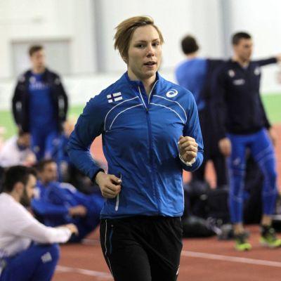 LInda Sandblom tränar i Belgrad.