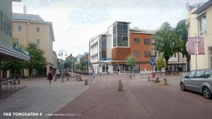 En skiss över Varubodens nya matbutik i Mariehamn som snart står färdig.