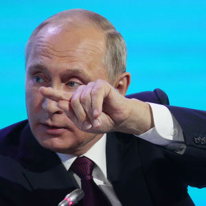 Rysslands president Vladimir Putin i Vladivostok den 7 september 2017.
