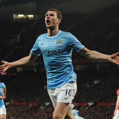 Edin Dzeko, United-City, 25.3.2014
