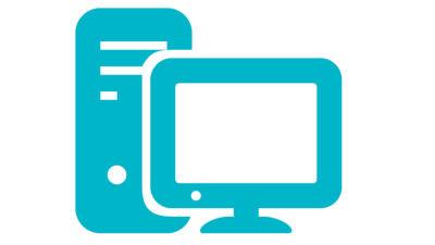 Symbolbild. Dator och skärm.