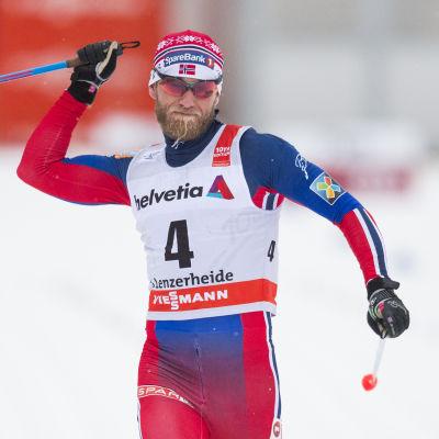 Martin Johnsrud Sundby var starkast i Val di Fiemme.