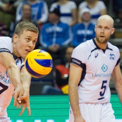 Eemeli Kouki (vas.) ja Antti Siltala