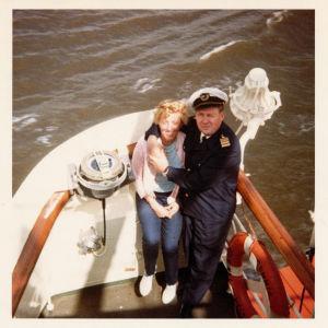 Jan-Erik Anderssonin vanhemmat veneessä 60-luvulla