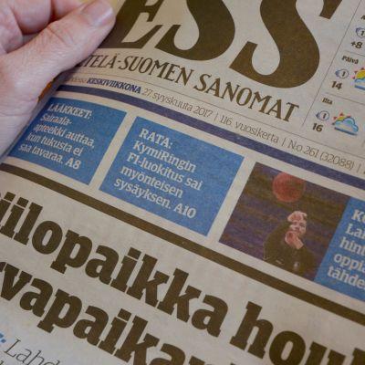 Sanomalehden etusivu
