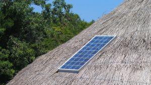 Solpanel i afrikanskt land