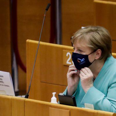 Saksan liittokansleri Angela Merkel Brysselissä.