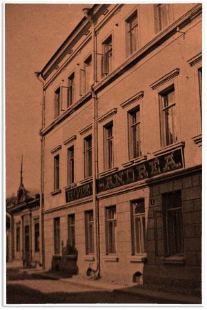 Hotel Andrea Viipurissa 1900-luvun alussa.
