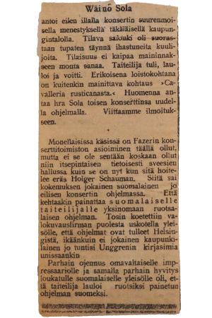Lehtileike Waasa-lehti 26.1.1918.