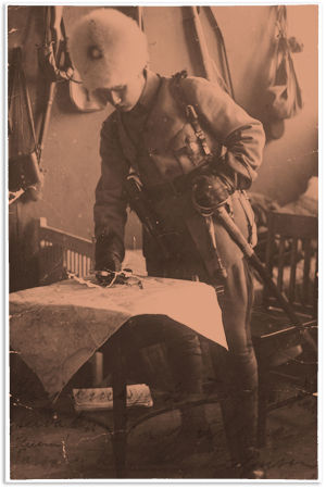 Punaisten komentaja Heikki Kaljunen.