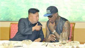Dennis Rodman och Kim Jong-Un.