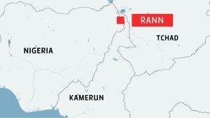 Kartan visar att Rann ligger i nordöstra Nigeria på gränsen till Kamerun.