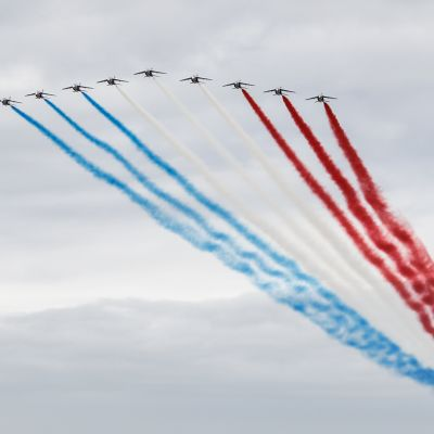 Patrouille de France -taitolentoryhmän harjoitukset Ranskan taivaalla