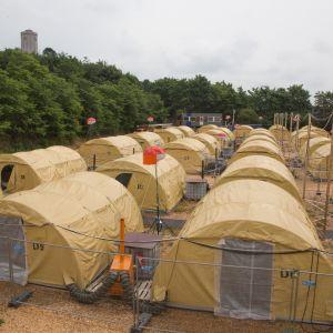 Flyktingläger i Naestved söder om Köpenhamn
