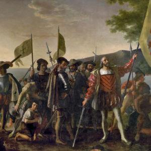 Kristoffer Kolumbus upptäcker Amerika 1492.
