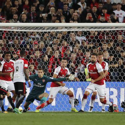 Sydney Wanderers ja Arsenal kohtasivat ystävyysottelussa Australiassa 15.7.2017.