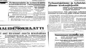 """Sanomalehtileikkeitä """"tammikuun kihlauksesta"""" v. 1940"""