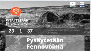 Greenpeace samlar namn mot Fennovoima.