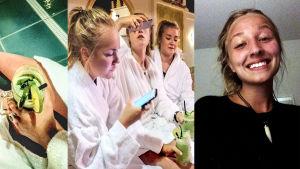 Isabel Grönroos blev bluffad av sina kompisar som deltog i Yles serie Bluffresan.