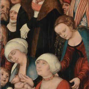 """Lucas Cranach den äldres målning """"Predigt Johannes des Täufers"""" ca 1520-1530."""