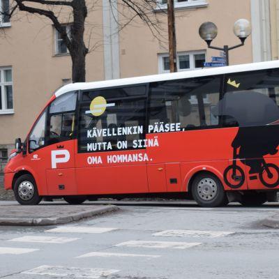 Porin citylinjan bussi