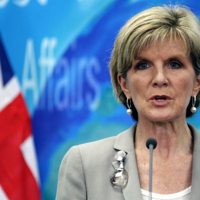 Australiens utrikesminister julie bishop