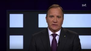 Stefan Löfven i tv-programmet Agenda.