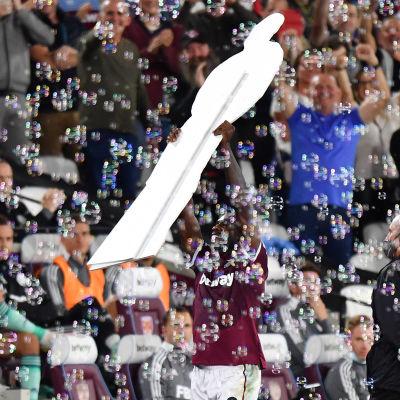 Michail Antonio firade glatt sitt målrekord.
