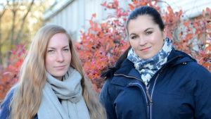 Amanda Liinamaa och Evelina Nygårds.