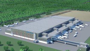 S-gruppens nya logistikcentral i Bastukärr i Sibbo.