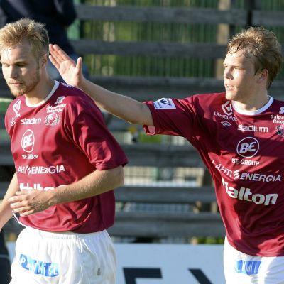 Jani Tanska och Markus Joenmäki, FC Lahti, juni 2014