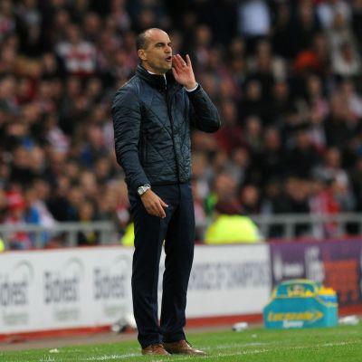 Roberto Martinez i sin sista match som tränare för Everton.