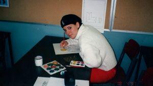 Eva Wahlström som elev i Lovisa Gymnasium.