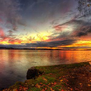 Auringonlasku Tampereella