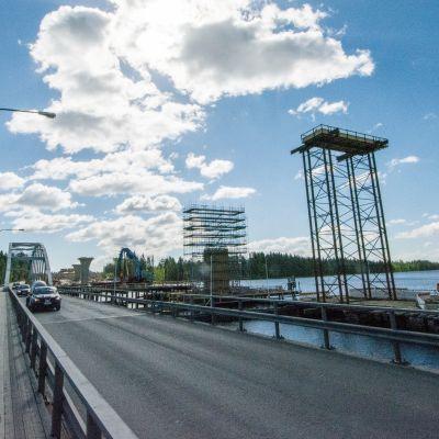 Jännevirta siltatyömaa