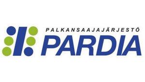 Löntagarorganisationen Pardias logo i grönt och blått.