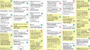 Programblad för barnlitteraturfestivalen ord