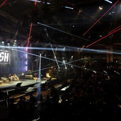 Valokuva Slush-tapahtuman avajaisista vuonna 2014.