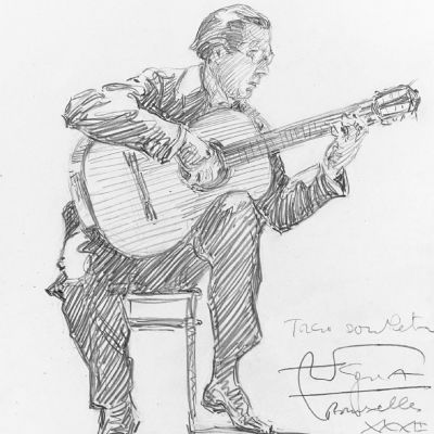 "Andrés Segovia ""Concerts Ysaye""-resitaalissa Brysselissä 15.12.1932"