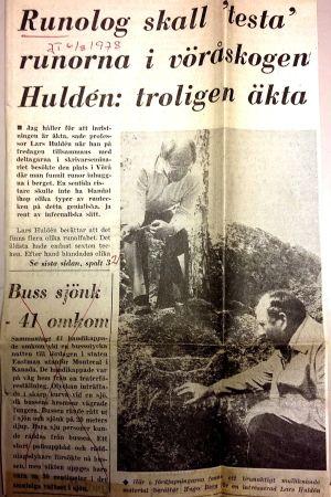 Vasabladsuppslag: Hugo Berg visar Jonundrunan för Lars Huldén
