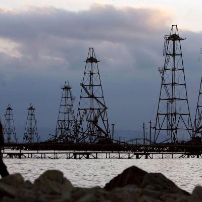 Oljefält i Kaspiska havet