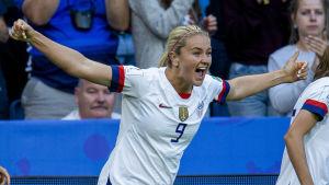 Lindsey Horan gjorde 1–0 för USA.