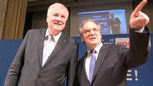 Horst Seehofer och Reiner Haseloff