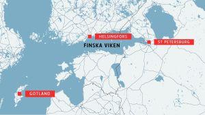 Karta över Finska viken.