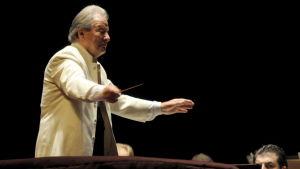 Den brittiska dirigenten och violinisten Neville Marriner vid en konsert i Spanien år 2008.