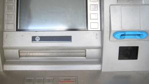 Bankautomat.