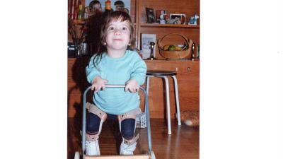 Anna Caldén som barn