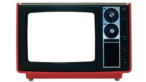 Tv med vit rura