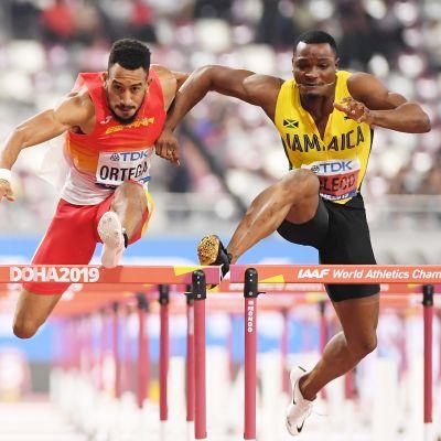 Orlando Ortega ja Omar McLeod