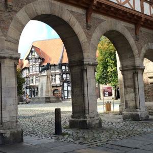 Braunschweigin vanhaa kaupunkia.
